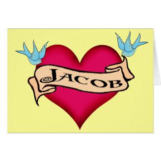 Jacob - camisetas y regalos de encargo del tatuaje tarjeta de felicitación