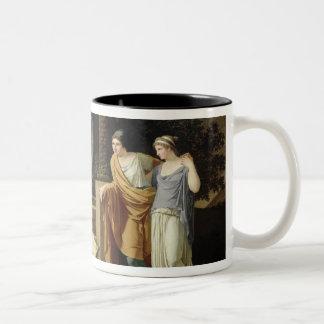 Jacob con las hijas de Laban, 1787 Taza Dos Tonos