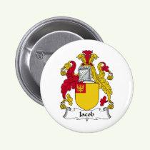Jacob Family Crest Button