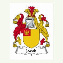 Jacob Family Crest Postcard