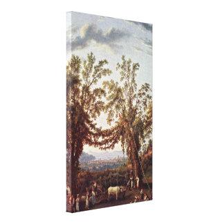 Jacob Hackert - Vintage Sorrento overlooking Stretched Canvas Prints