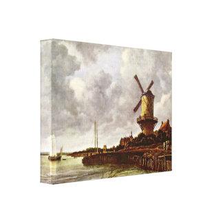 Jacob Isaackszoon van Ruisdael - molino de viento  Impresión En Lona