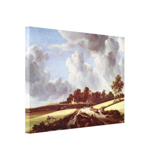 Jacob Isaackszoon van Ruisdael - Wheat fields Canvas Print
