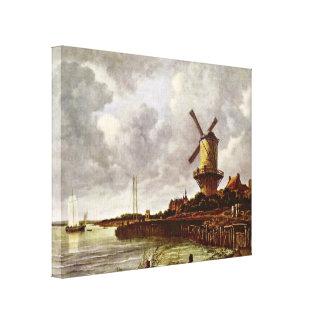 Jacob Isaackszoon van Ruisdael - Windmill at Wijk Canvas Print