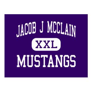 Jacob J McClain - mustangos - centro - Lexington Tarjeta Postal