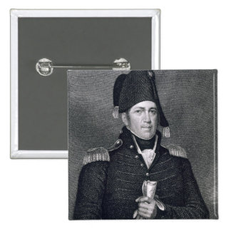 Jacob Jennings Brown (1775-1828) engraved by Asher 2 Inch Square Button