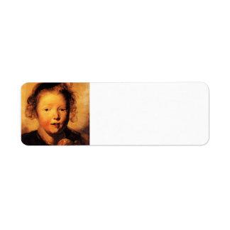 Jacob Jordaens- Child's head Return Address Label