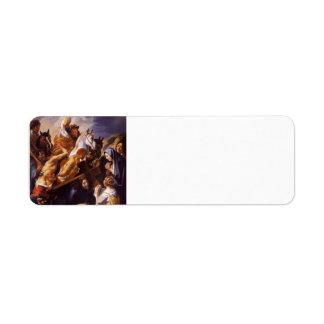 Jacob Jordaens- Christ Carrying the Cross Return Address Label