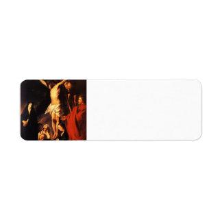 Jacob Jordaens- Christ on a Cross Return Address Label