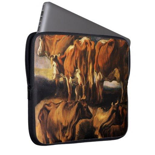 Jacob Jordaens- cinco estudios de vacas Mangas Portátiles