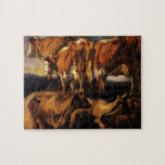 Jacob Jordaens- cinco estudios de vacas Puzzle