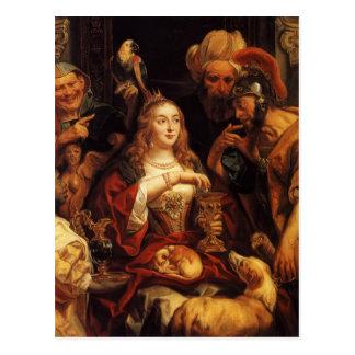 Jacob Jordaens- el banquete de Cleopatra Tarjetas Postales