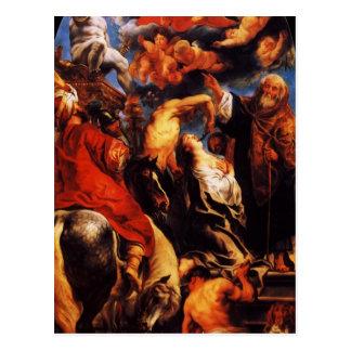 Jacob Jordaens- el martirio de St. Apollonia Tarjeta Postal