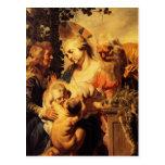 Jacob Jordaens-Holy Family ,Elizabeth & Child John Postcard