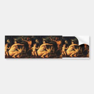 Jacob Jordaens-Infant Jupiter Fed by Goat Amalthea Bumper Stickers