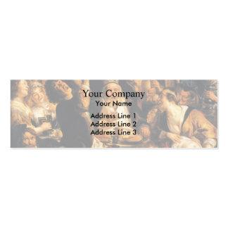 Jacob Jordaens- King Drinks Business Card Templates
