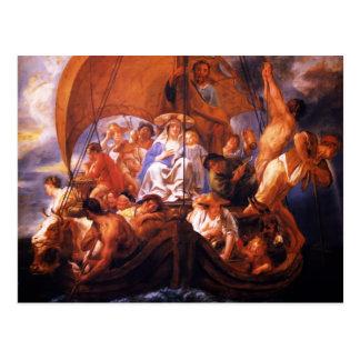 Jacob Jordaens- la familia santa en un barco Postales