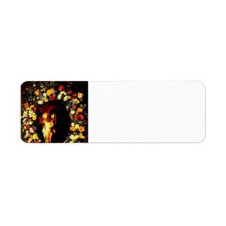Jacob Jordaens-Madonna,Child wreathed with flowers Return Address Label