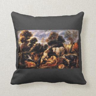 Jacob Jordaens- Mercure killing Argos Throw Pillow