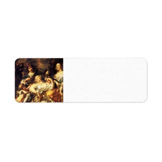 Jacob Jordaens- Portrait of a Family Return Address Label