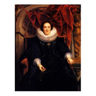 Jacob Jordaens- Portrait of Catharina Behaghel Postcard