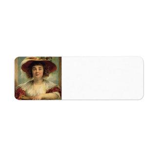Jacob Jordaens- Portrait of the artist's daughter Return Address Label