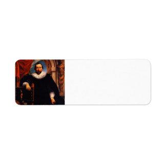 Jacob Jordaens- Portrait of the Rogier Witer Return Address Label