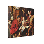 Jacob Jordaens - Satyr and the Peasant Gallery Wrapped Canvas