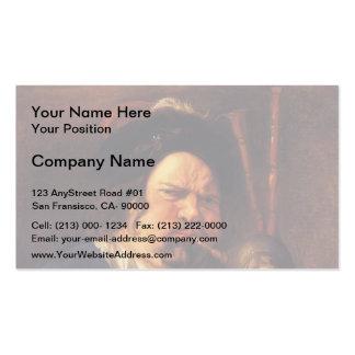 Jacob Jordaens- Self-Portrait as a Bagpipe Player Business Card