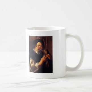 Jacob Jordaens- Self-Portrait as a Bagpipe Player Classic White Coffee Mug