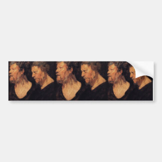 Jacob Jordaens- Studies of head of Abraham Bumper Sticker