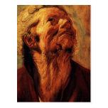 Jacob Jordaens- Study of head of Abraham Grapheus Postcard