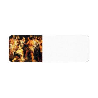 Jacob Jordaens-The Apostles, St. Paul,St. Barnabas Return Address Label