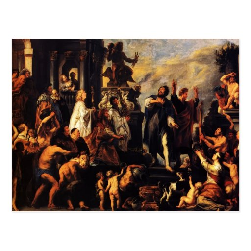 Jacob Jordaens-The Apostles, St. Paul,St. Barnabas Postcard