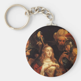 Jacob Jordaens- The Banquet of Cleopatra Keychains