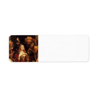 Jacob Jordaens- The Banquet of Cleopatra Return Address Label