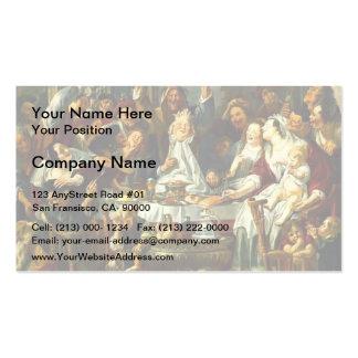 Jacob Jordaens- The King Drinks Business Cards