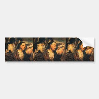 Jacob Jordaens-Two female heads torso of warrior Bumper Sticker