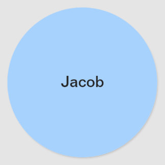 Jacob Light Blue  Kids Name Sticker Personalized