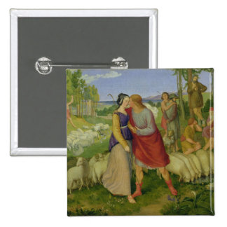 Jacob Meets Rachel, 1827 Pinback Button