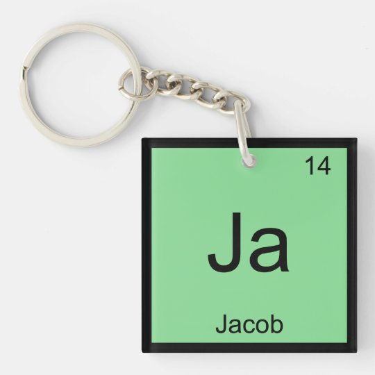 Jacob  Name Chemistry Element Periodic Table Keychain