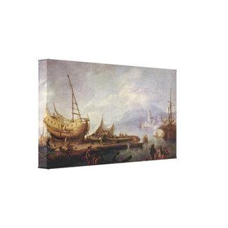 Jacob Philipp Hackert - paisaje costero Lona Estirada Galerías