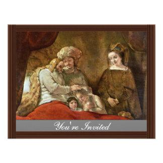 Jacob que bendice a los hijos de José Invitaciones Personales