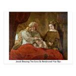 Jacob que bendice a los hijos de Rembrandt Van Rij Postales