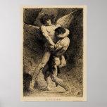 Jacob que lucha con el ángel de Léon Bonnat 1876 Posters