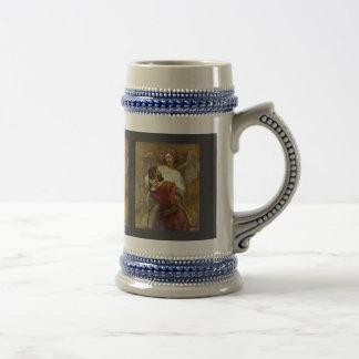 Jacob que lucha con el ángel de Rembrandt Tazas De Café