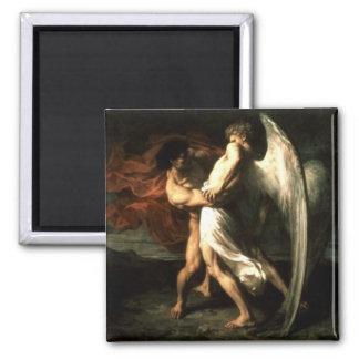 Jacob que lucha con un imán del ángel
