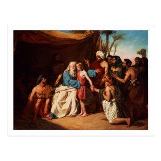 Jacob que rechaza lanzar a Benjamin, 1829 (aceite Postal