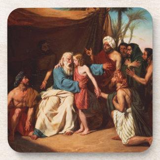 Jacob refusing to release Benjamin, 1829 (oil on c Drink Coaster
