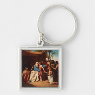 Jacob refusing to release Benjamin, 1829 (oil on c Keychain
